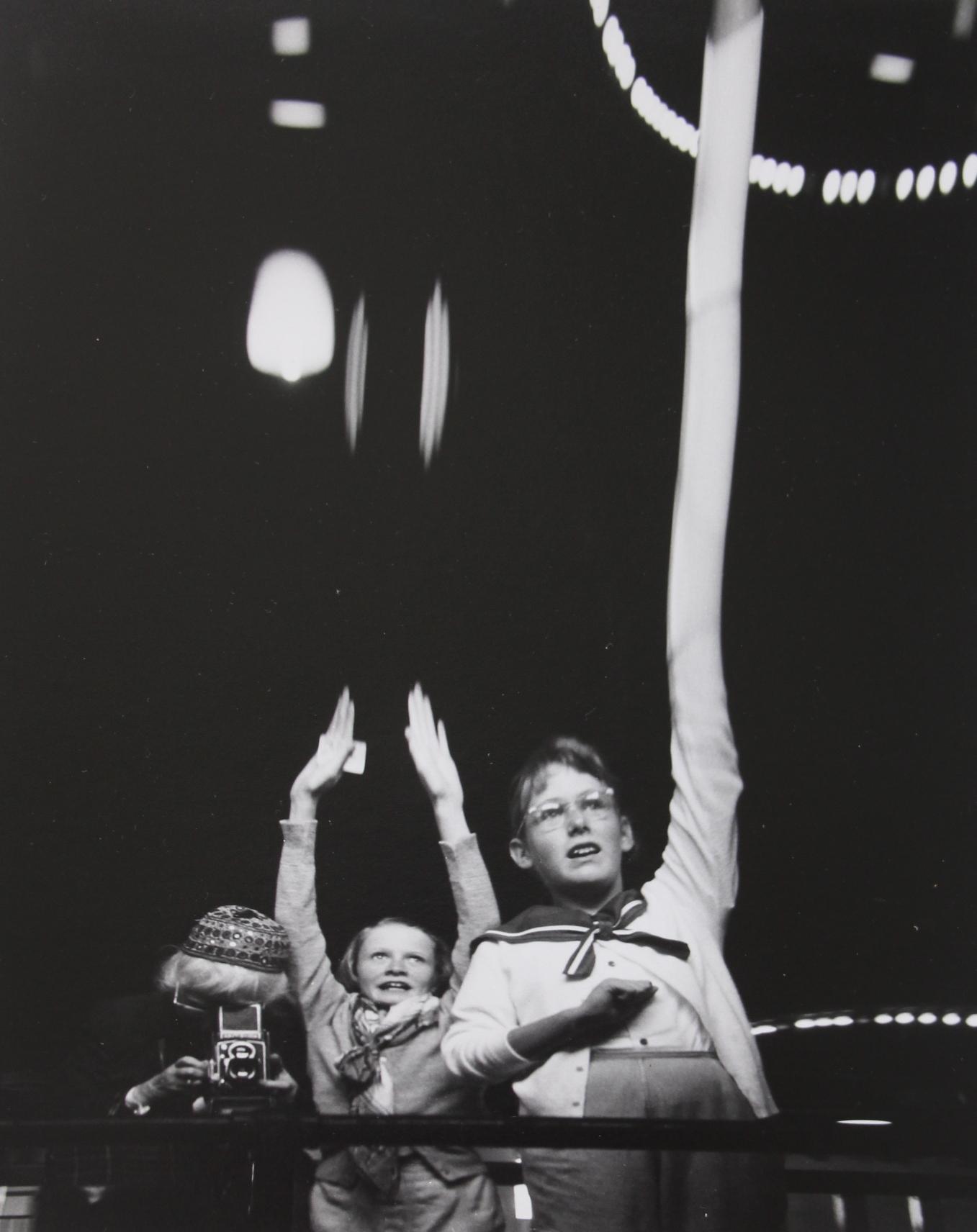 Imogen Cunningham_Self Portrait with Grandchildren in S.F Funhouse_1955.JPG
