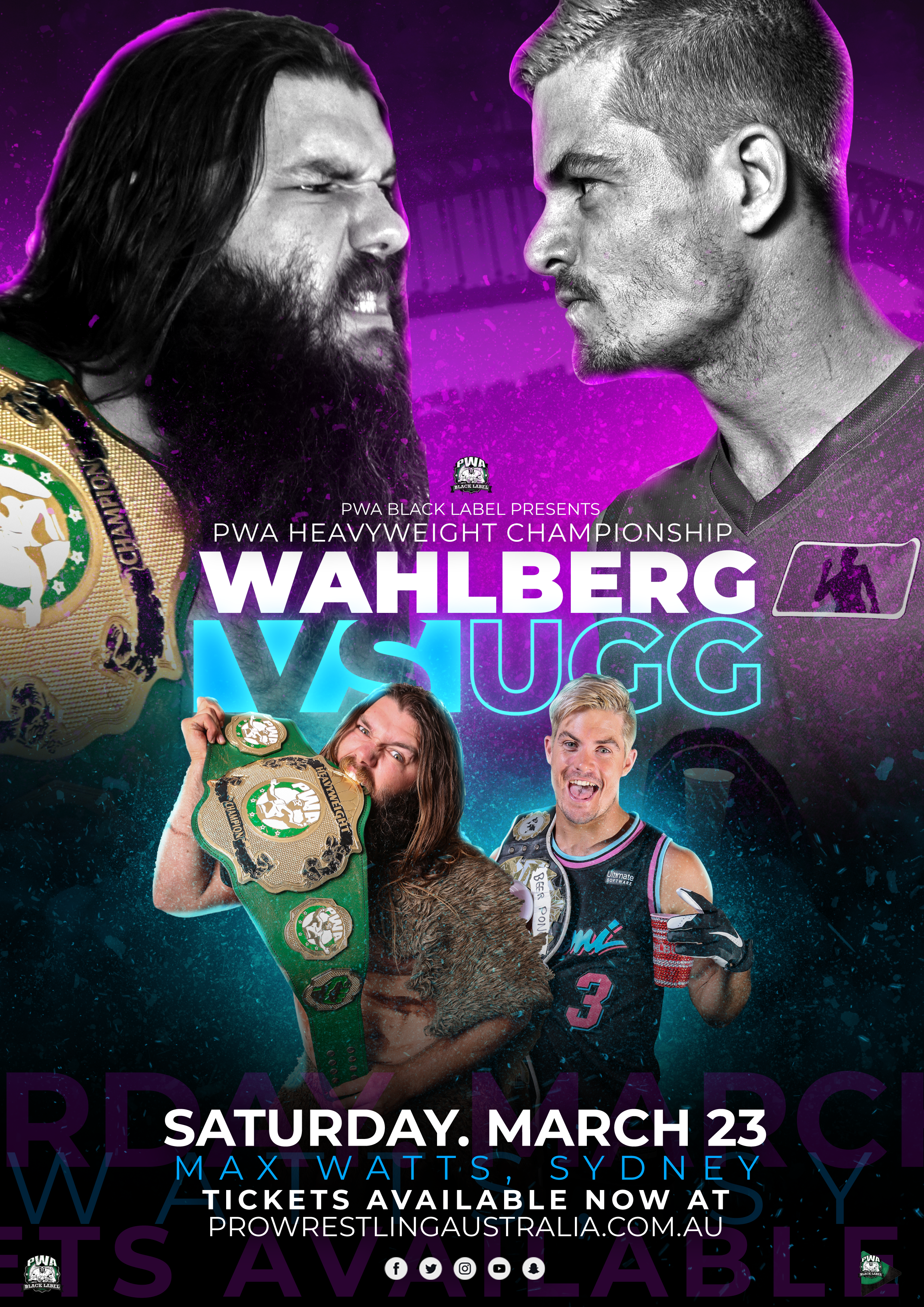 PWA Black Label Wahlberg Vs UGG A4 Poster 2.png