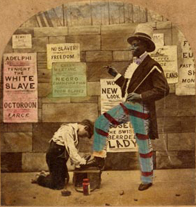 """1863 - """"The White Slave"""", printed in San Francisco conveying the fear by the Southerners of a free state."""