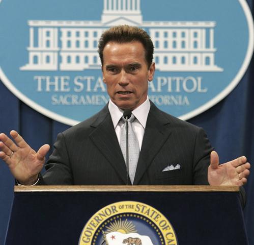 """2003 - 2011 - The """"governator"""" Arnold Schwawrzenegger."""