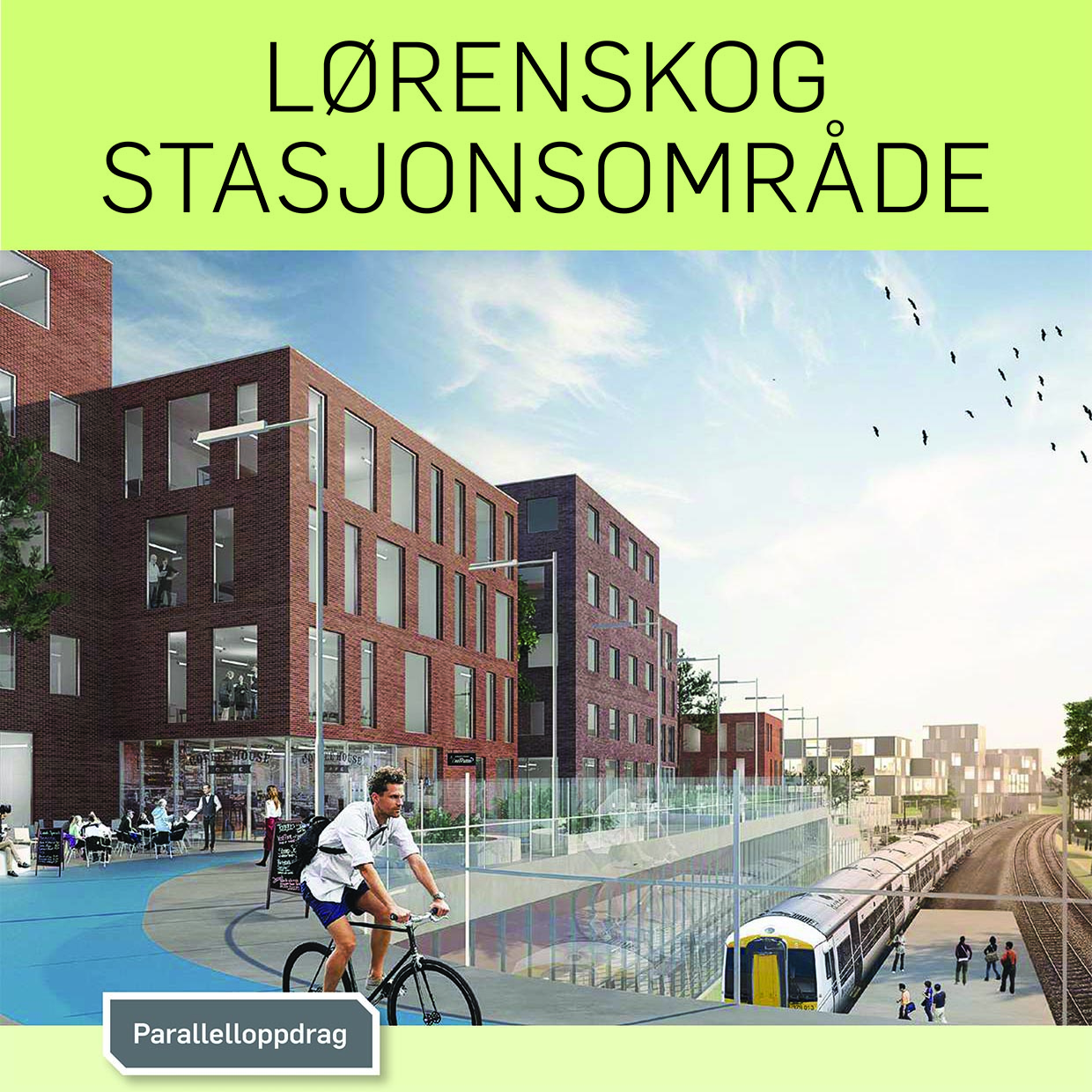 The Report for Lørenskog Station Area is out! Edit/atelier & Tin (f.k.a. Gattaca) served as 1 of the 3 teams shaping it! - 09.04.2019 - ByLIVsenteret - The report is based on work done in Aug-Oct 2018, with the goal of securing a positive long-term development of the station area. The exhibition of the proposals were sought-after by the inhabitants and garnered positive response. The evaluation committee for this work has arrived on 7 guidelines for it, whereas 3 of them was recommended to be executed very quickly. The guidelines has been discussed thoroughly within the professional groups at Lørenskog municipality.Read More!The Report, click to downlad!