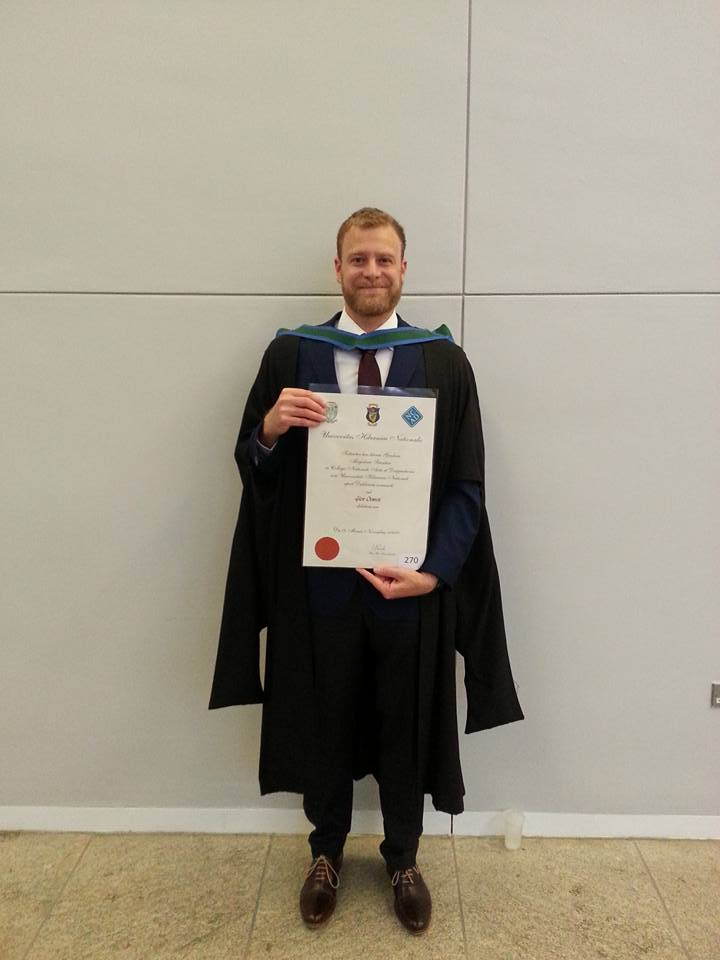 That's me with M.Sc #2 in hand from Ireland's National College of Art & Design, University College Dublin.