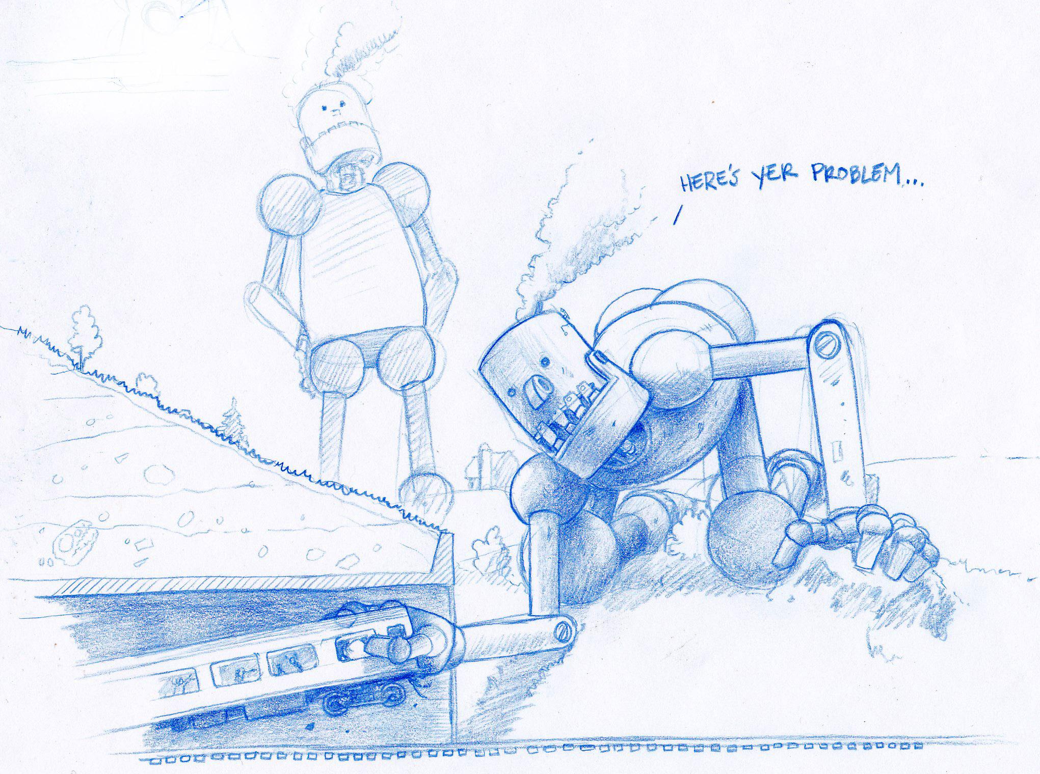 Even giant robots need plumbers.