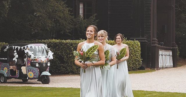 Let's hear it for all the bridesmaids out there 🙌🏻 - #wedding #weddingfilm #bridesmaids #bridesmaiddress #florist #weddingflowers #weddingflorals #weddingflorist #outdoorwedding #outdoorweddingdecor #tuktuk #larmertree #yourdayyourway #rockmywedding #rmwthelist #weddingphotography #weddingfilmmaker #weddingvideography #dorsetweddingfair #dorsetwedding