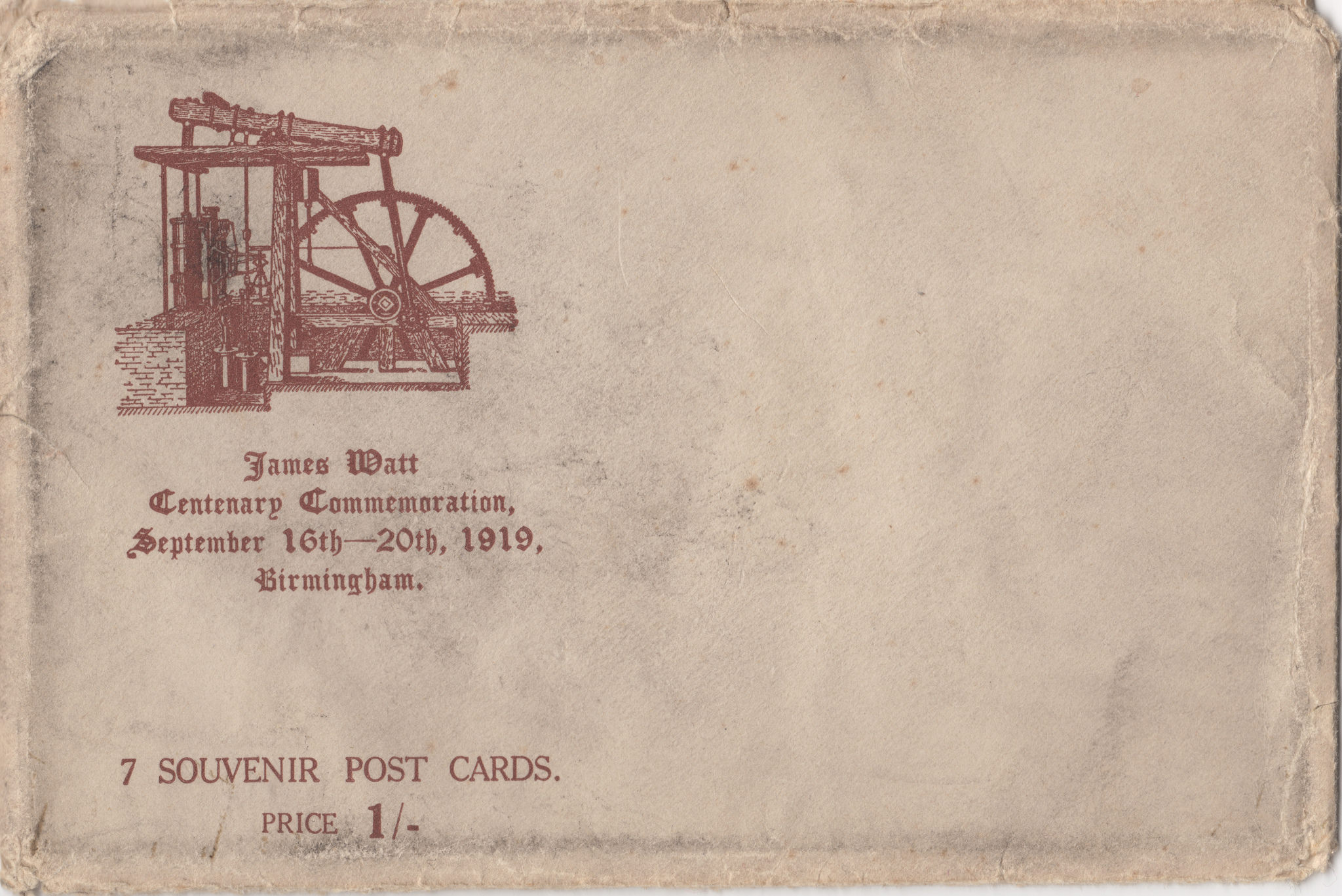 James Watt Centenary Commemorations 1919