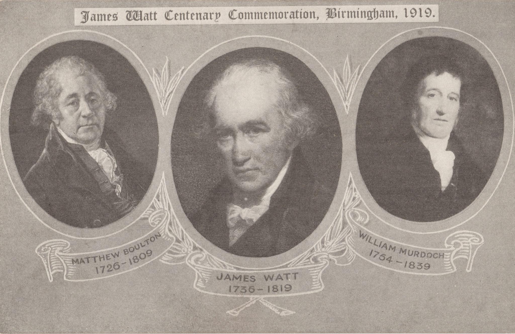 Matthew Boulton, James Watt and William Murdoch