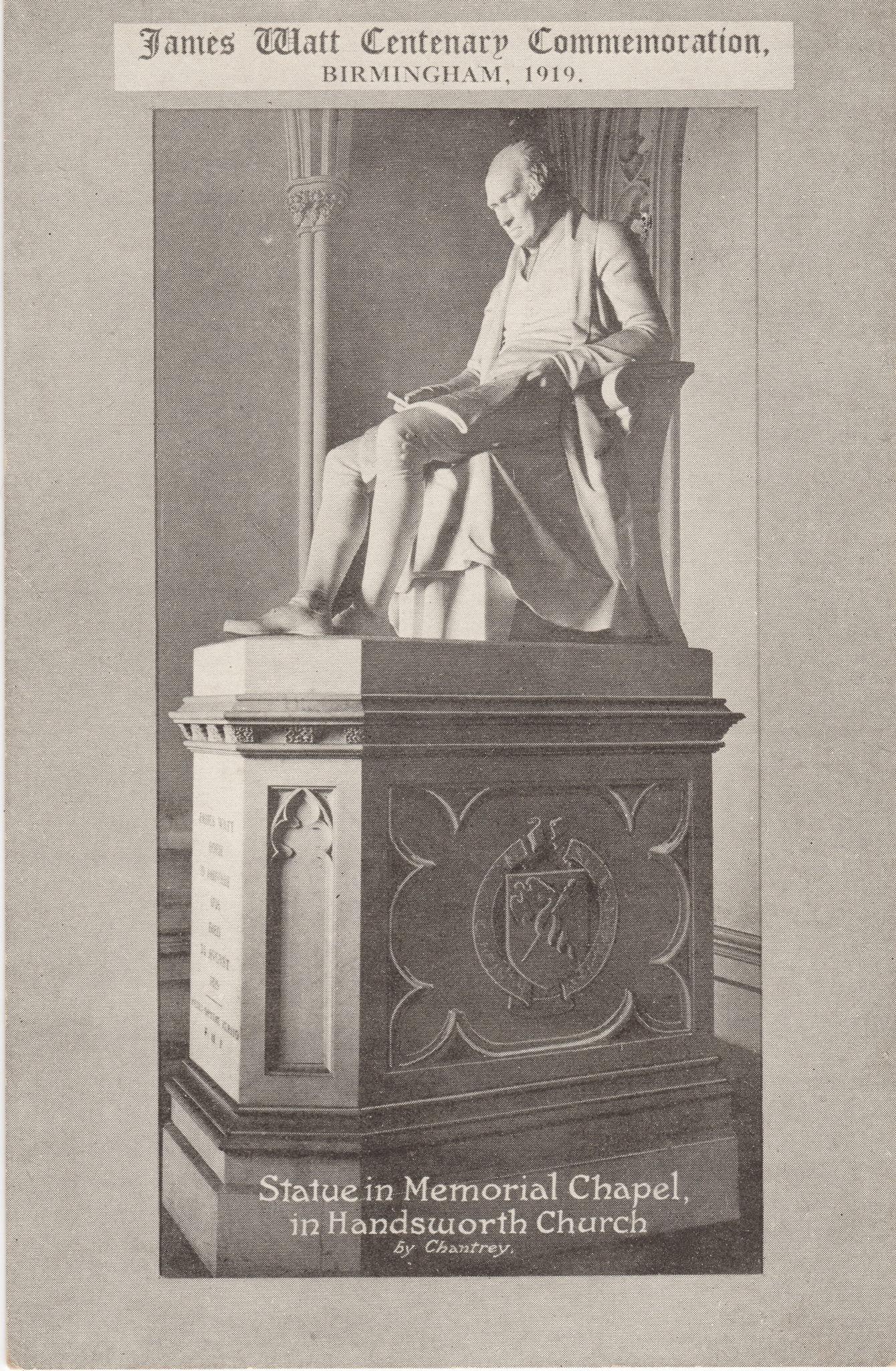 Statue in Memorial Chapel in Handsworth Church