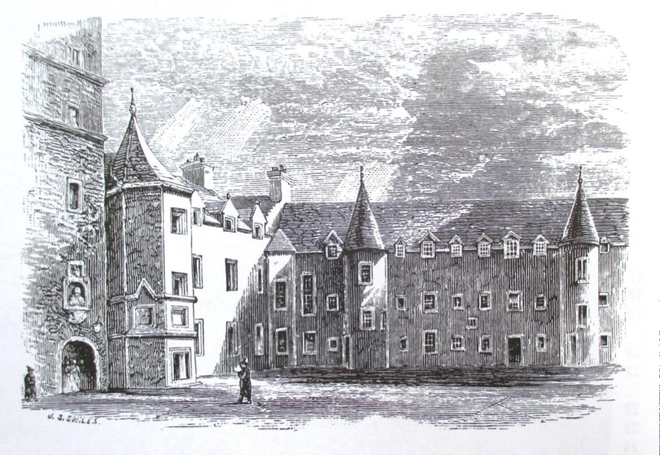 The quadrangle of Glasgow University where Watt had his workshop
