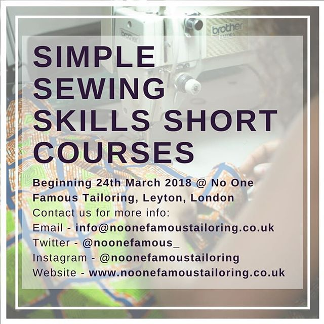 Here's one for the budding #HomeSewing stars. We're compiling a run of #ShortCourses where you can learn how to do basic #clothing #repairs and #alterations from shortening #trousers to replacing #zips and plenty more in between. Keep an eye out for further #updates and telling your #sewing friends to do the same!  #NoOneFamous #Design #Tailoring