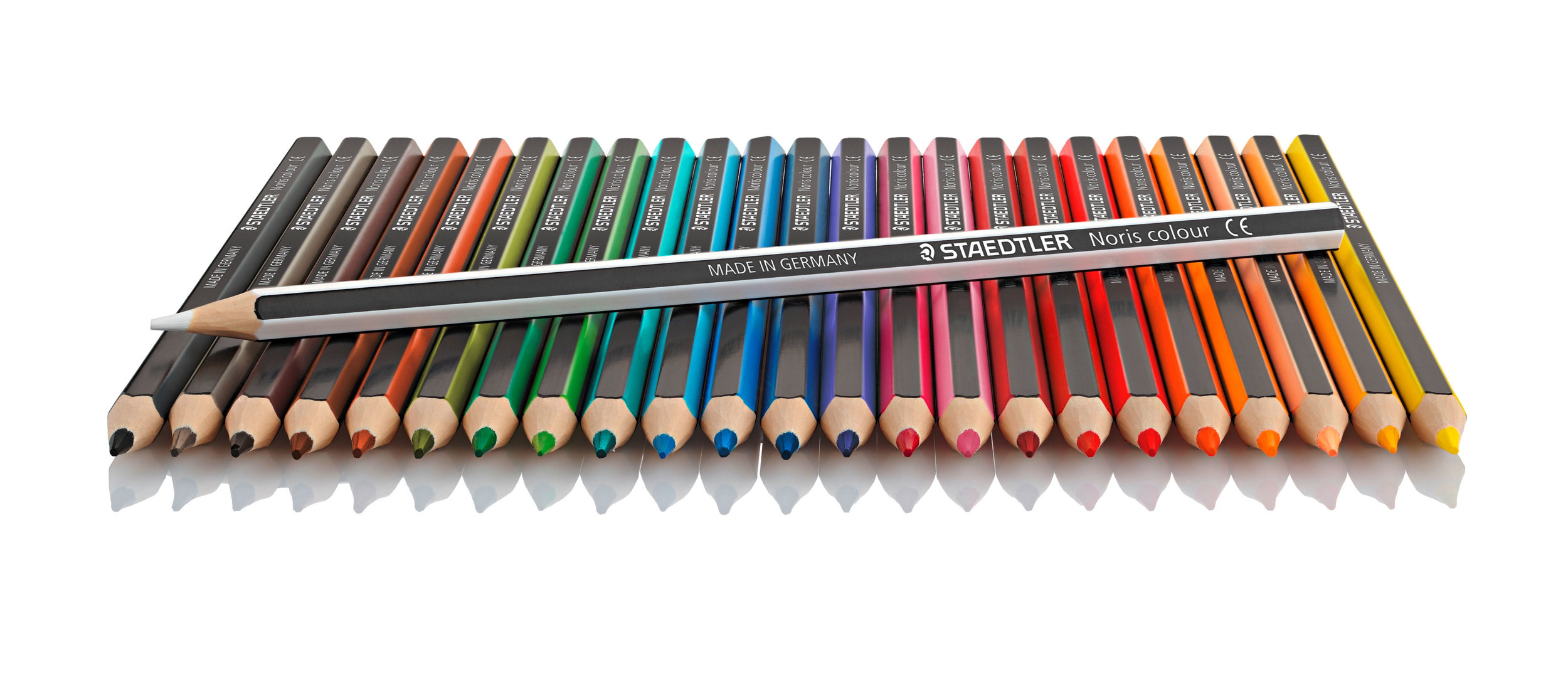Staedtler Noris Coloured Colouring Pencils 185 C24 Set of 24 24x open pack.jpg