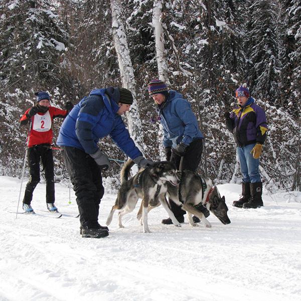 Sara Tabbert, printmaker, skijors in Alaska