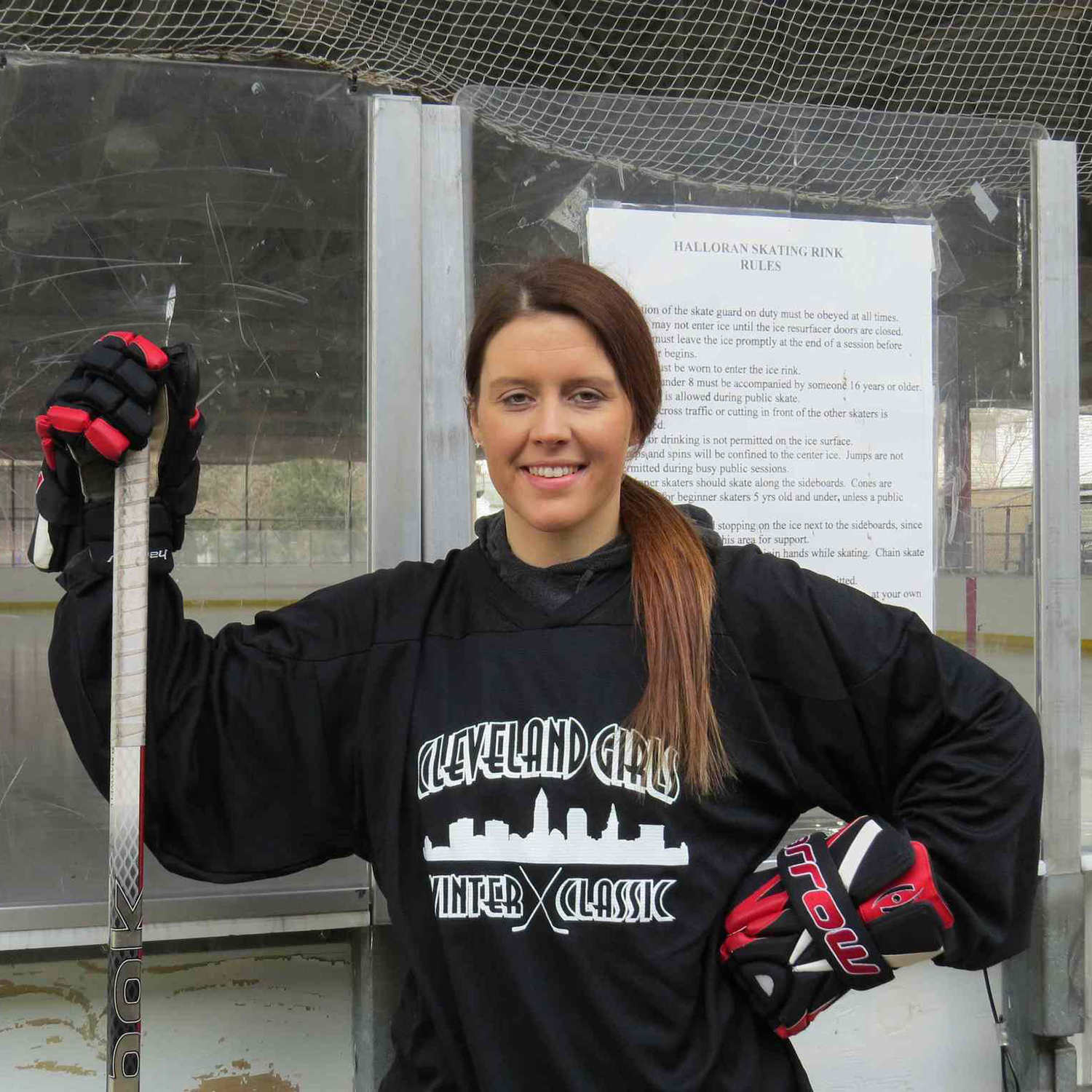 Seanna Conway coaches girls ice hockey in Cleveland, OH