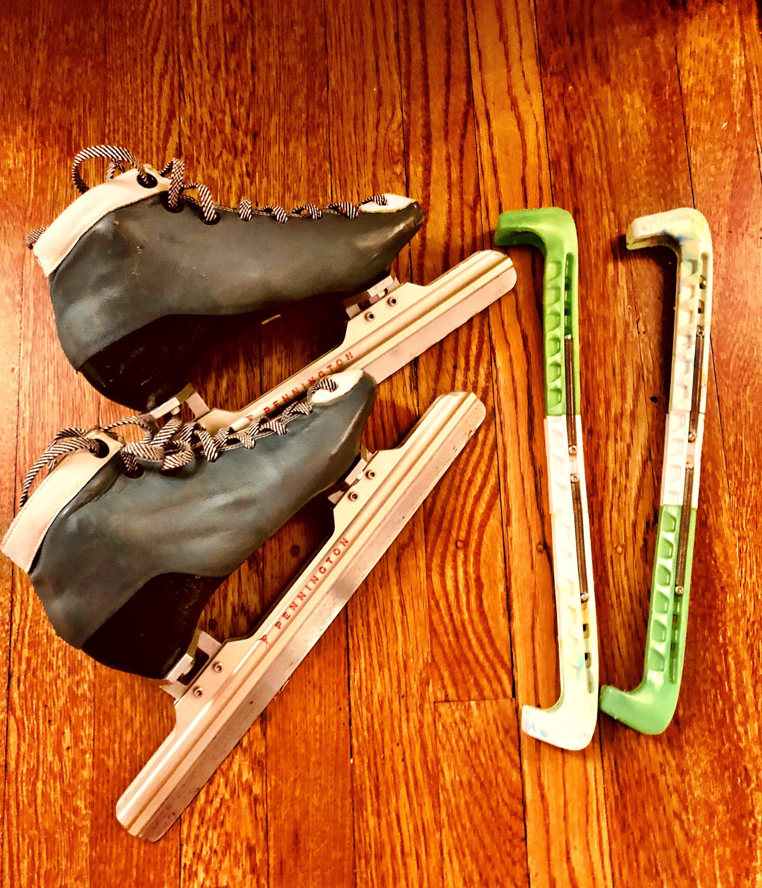 Hear Her Sports guest Margo Bruke's speed skates