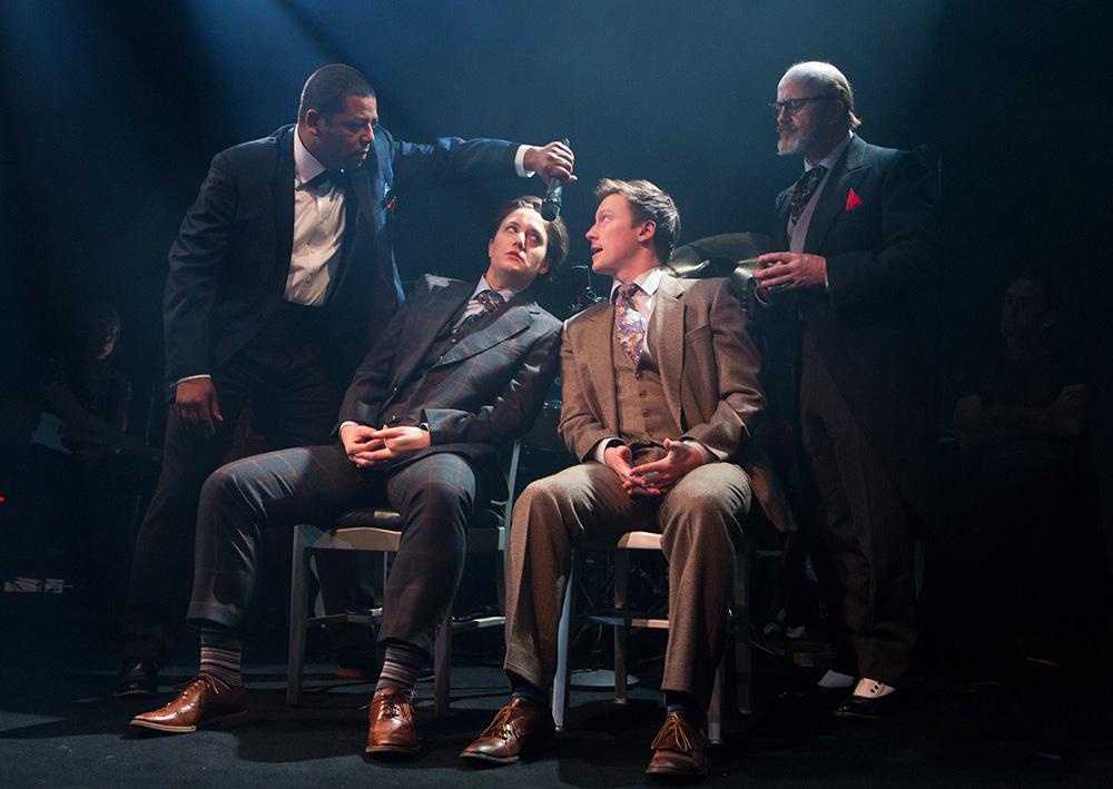 Hamlet  - Tarragon Theatre, 2018 with Nigel Shawn Williams, Rachel Cairns and Cliff Saunders photo credit: Cylla Von Tiedemann