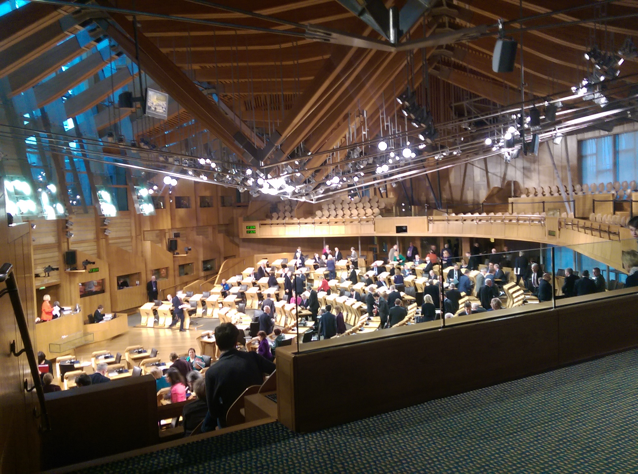 Which leads to discussions like this in the Scottish Parliament