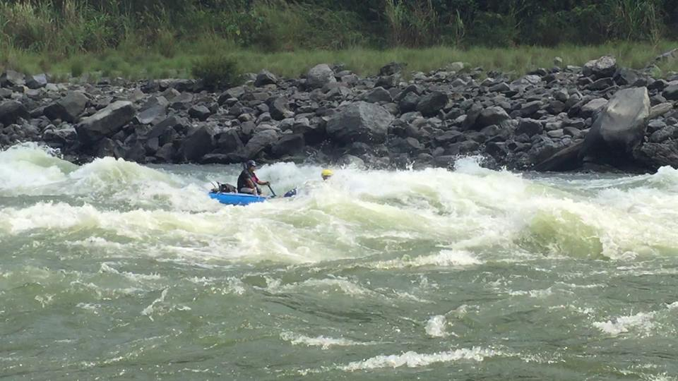 LEVEL 3-CLASS III RAPIDS:  Waves up to four feet and narrow passages that send the boat shimmying and water gushing over its sides. Plenty of excitement.