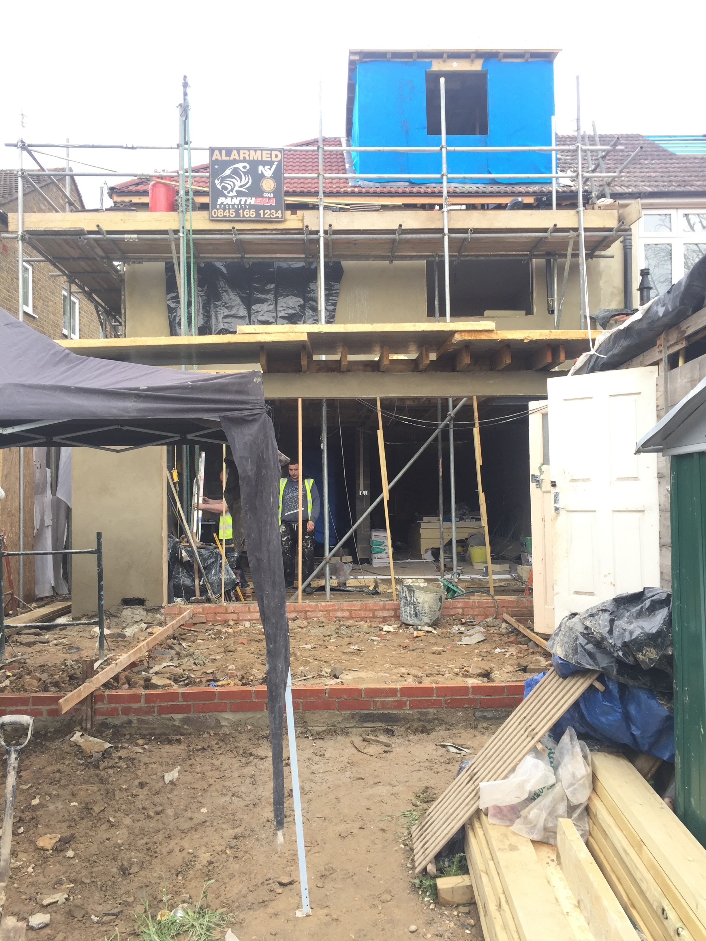 Week 17 - Plasterboard, 1st fix plumbing and 1st fix electrics27.JPG