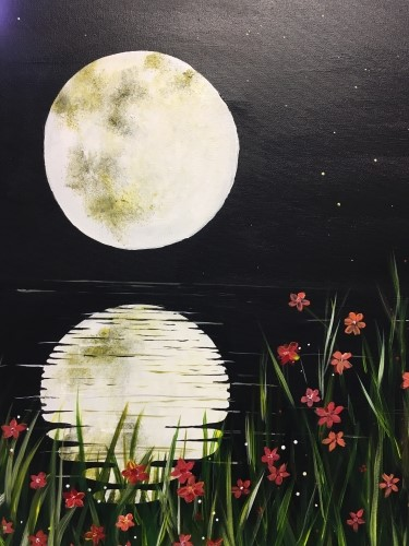 "This is what we'll be painting! ""Midnight Reflection"""