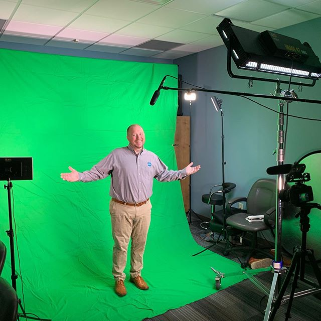 We were having some fun with the green screen this week. Stay tuned to find out where we put @witkovskym #greenscreen #video #marketing #agency