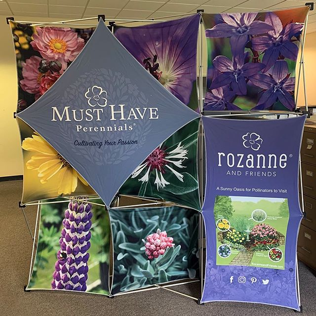 We designed this fancy trade show display for @musthaveperennials. The fabric panels can be changed to match their current inventory so they will get a lot of use out of it. 🌸#tradeshow #display #design