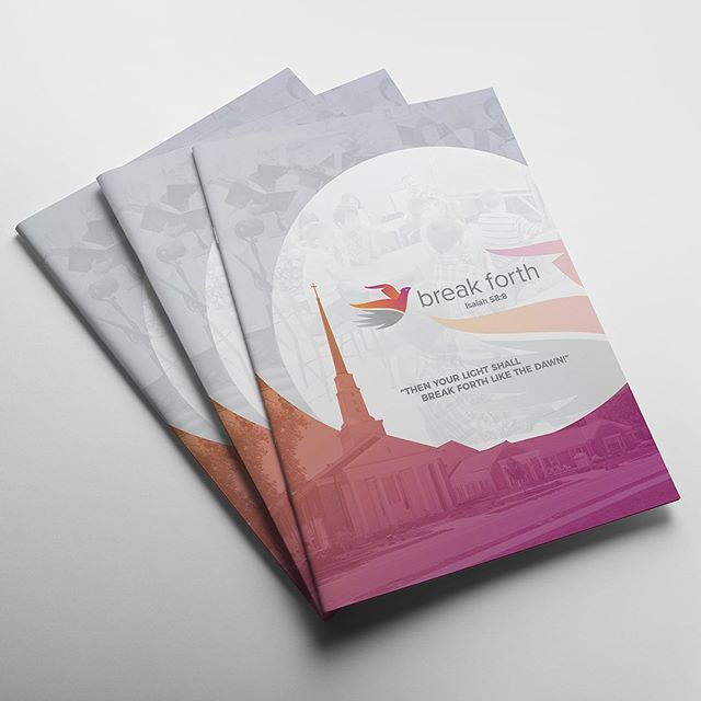 We designed this booklet and trifold brochure to help Grandview United Methodist Church raise money for their church renovations. #design #brochure