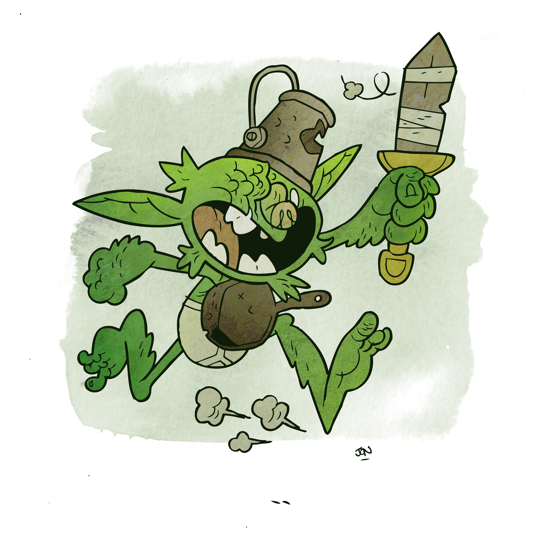 A goblin warrior rushes to the fray.
