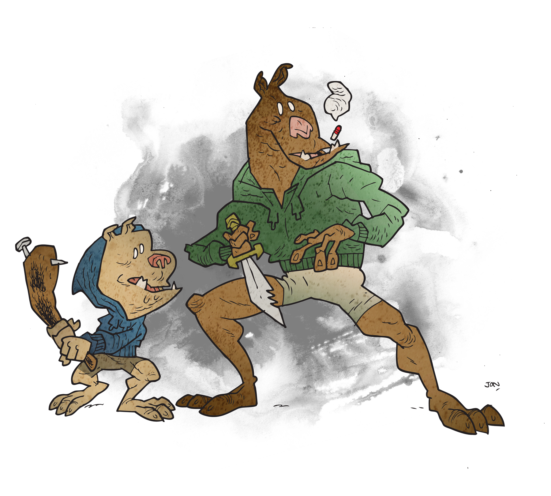 Bugbears, looking for trouble.