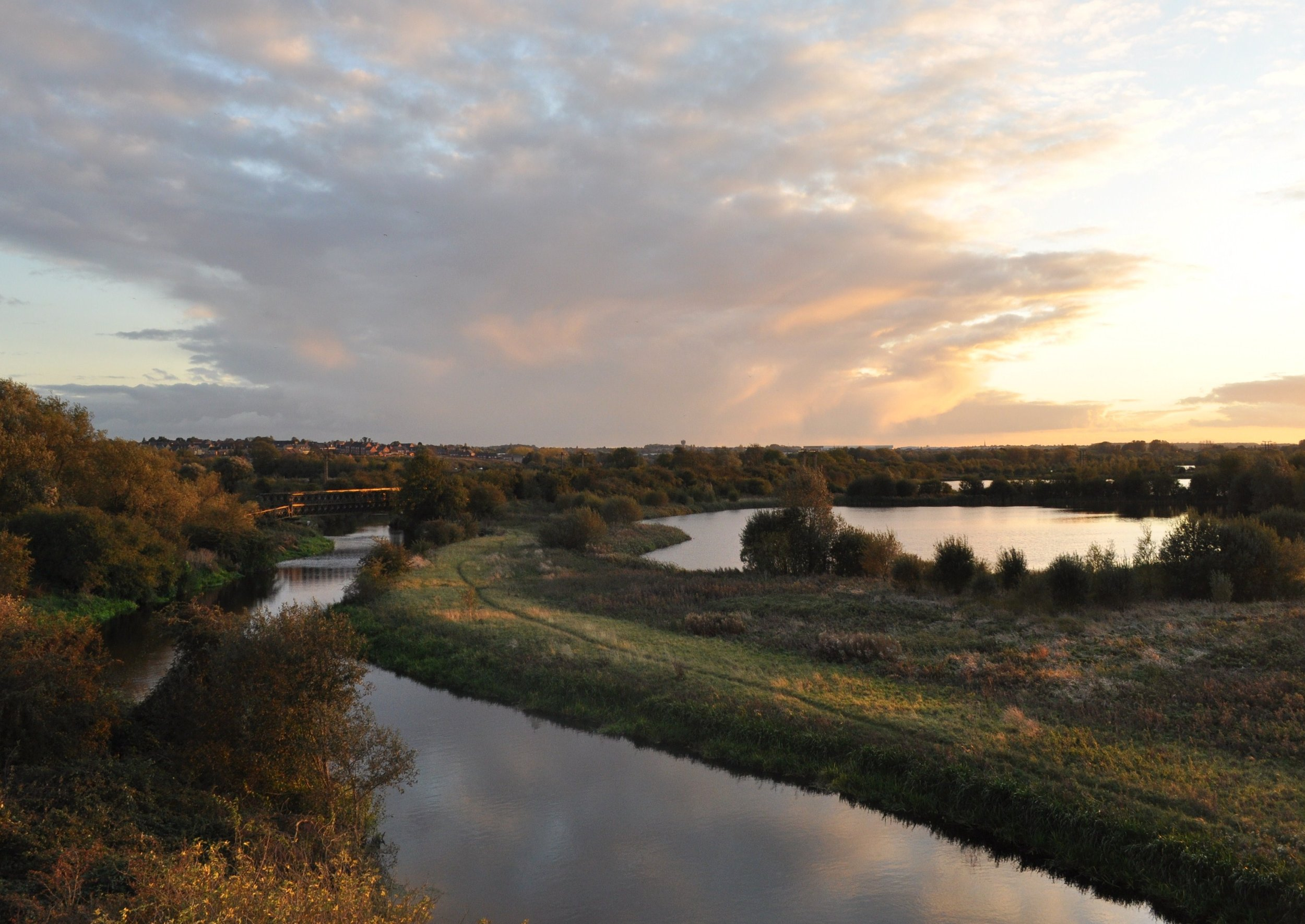 The Nene Valley landscape at sunset (John Abbott)