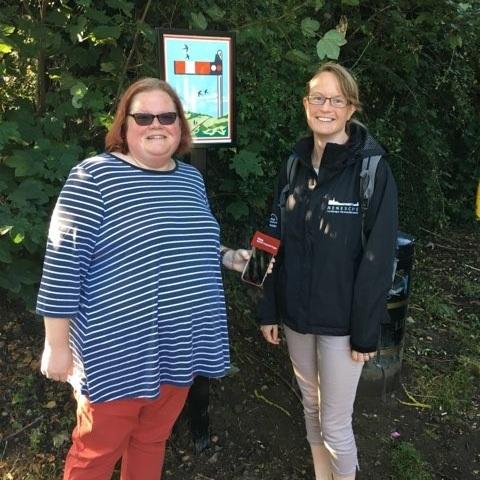 With BBC Radio Northampton's Helen Blaby