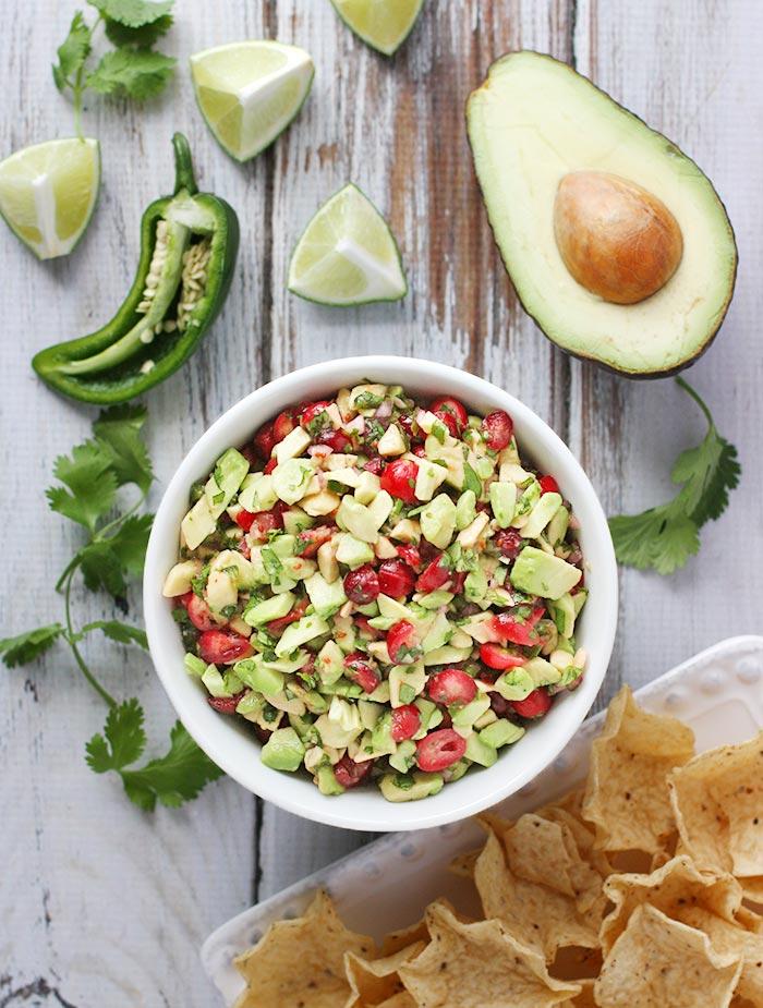 cranberry and avocado salsa