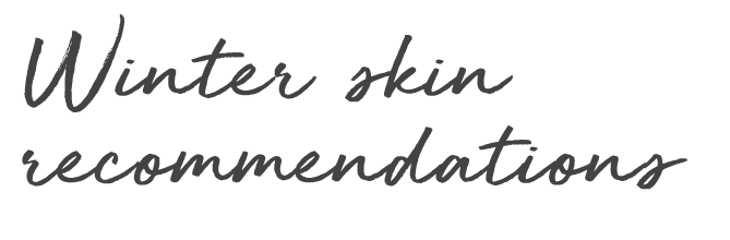winter skin recommendations vegan plantbased