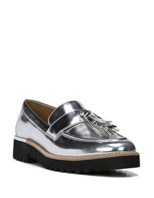 silver flat - shoe