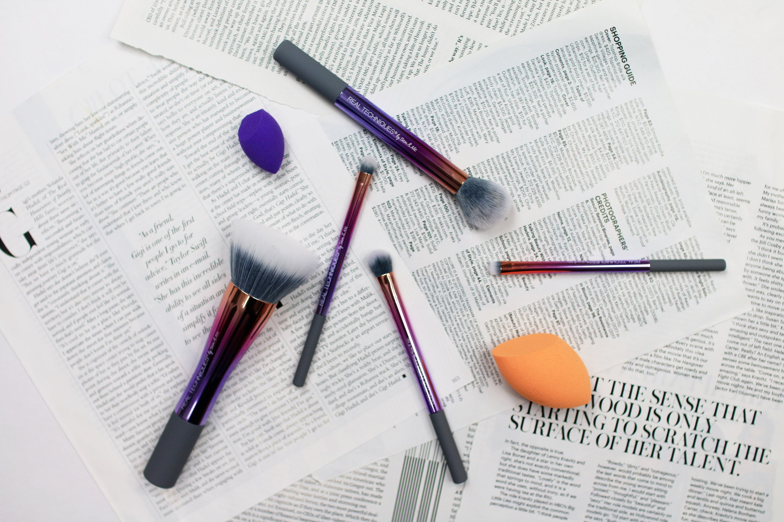 brush + makeup + real techniques