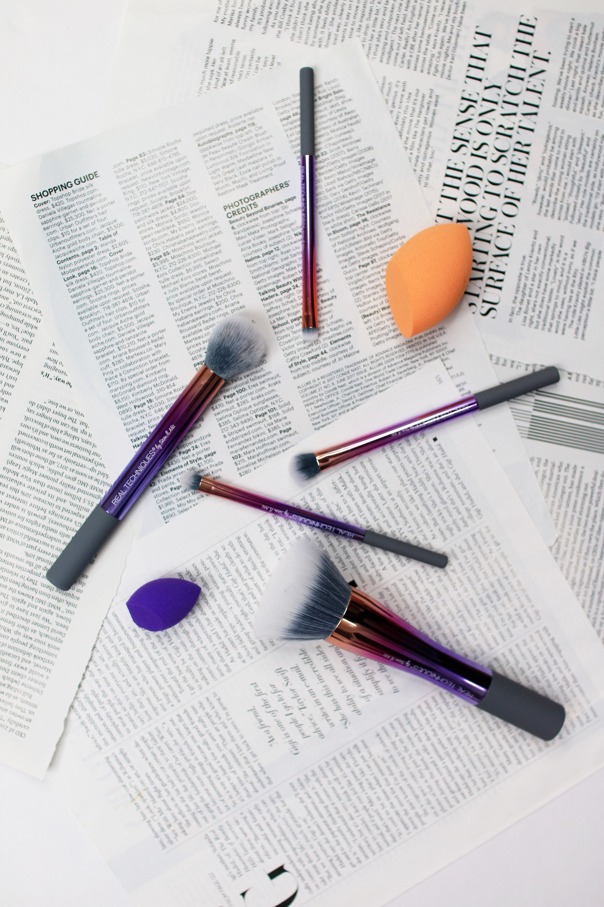 makeup brush + real techniques