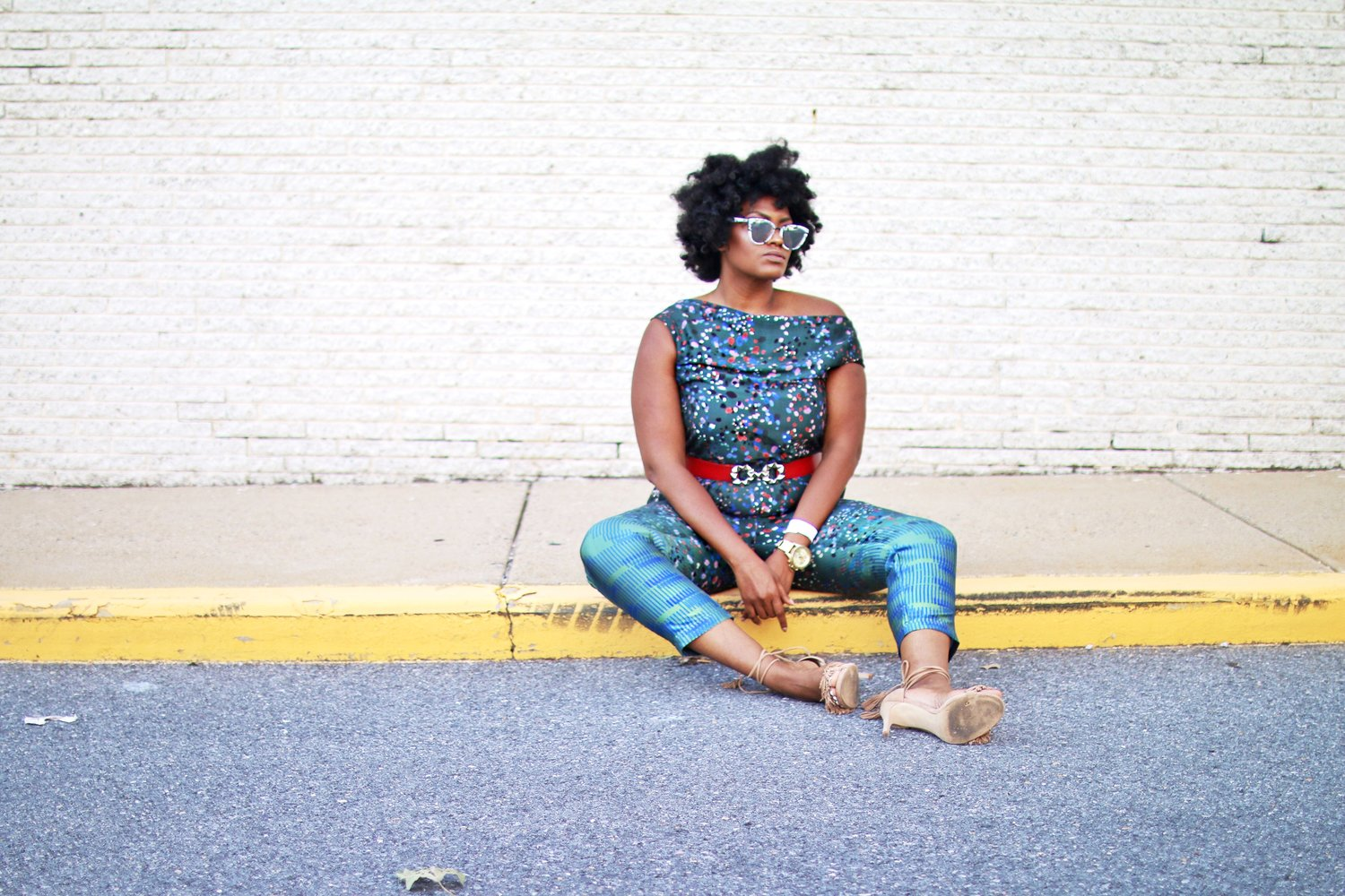 GREEN WITH ENVY: LOU & GREY JUMPSUIT -