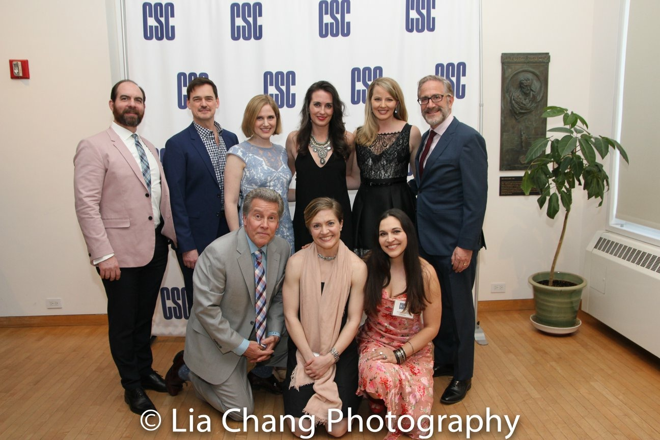 Classic Stage Company Gala honoring John Doyle (with Company cast members David Michael Garry, Fred Rose, Leenya Rideout, Jessica Tyler Wright, Bruce Sabath, Keith Buterbaugh, Jane Pfitsch and Katrina Yaukey)