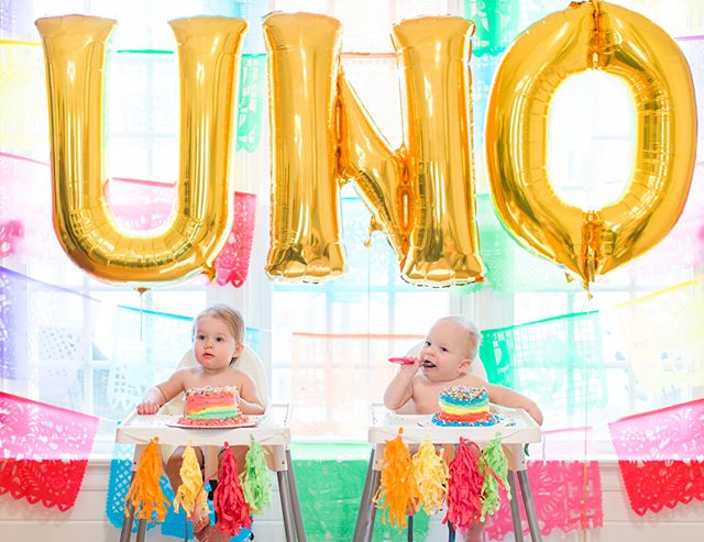Can't stop looking at these cake smash pics...too cute! The sugar high before nap time wasn't so cute though. 😂