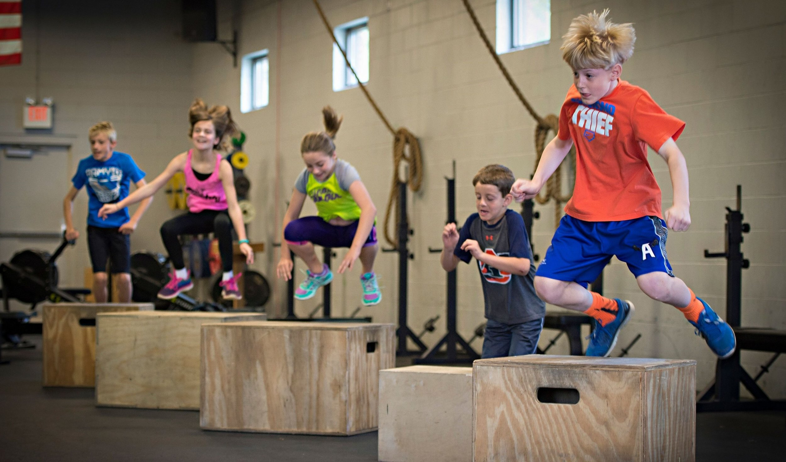 CrossFit Kids - Teaching that fitness can be fun! CrossFit Kids & Teens happens each summer for the months of June & July. However, soon we will have it year round! Keep an eye out.