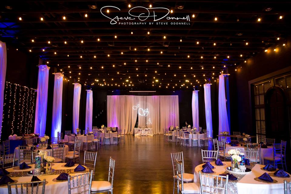 A beautiful wedding set up inside the barn at Winthrop. photo by  Steve O'Donnell .