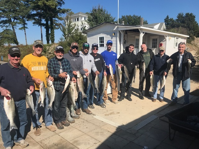 WFP on the Bay - Certified Chance Dealers take a day off to catch some Rockfish with WFP