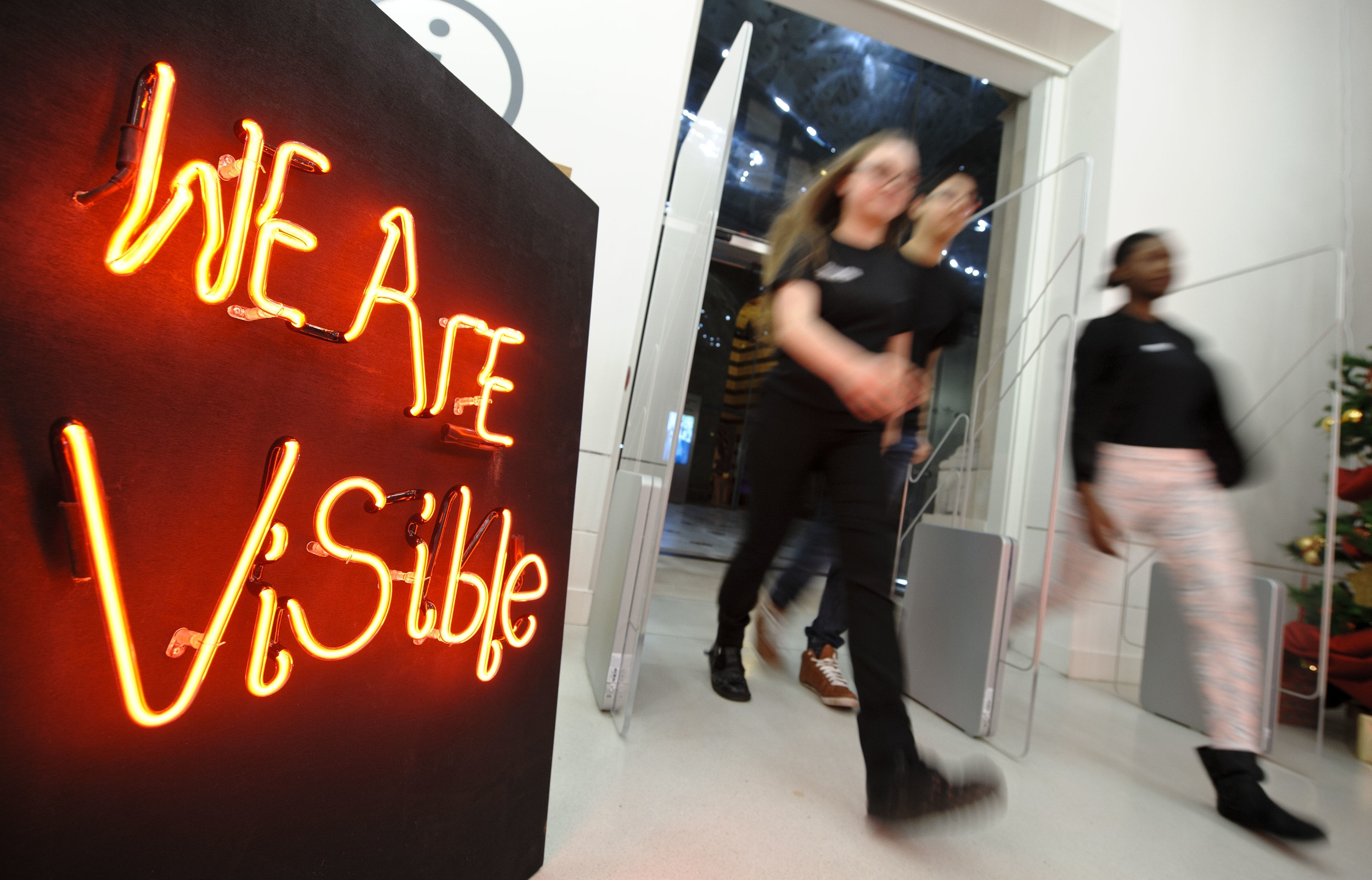 Visible Words by Invisible People Richard William Wheater and RECLAIM