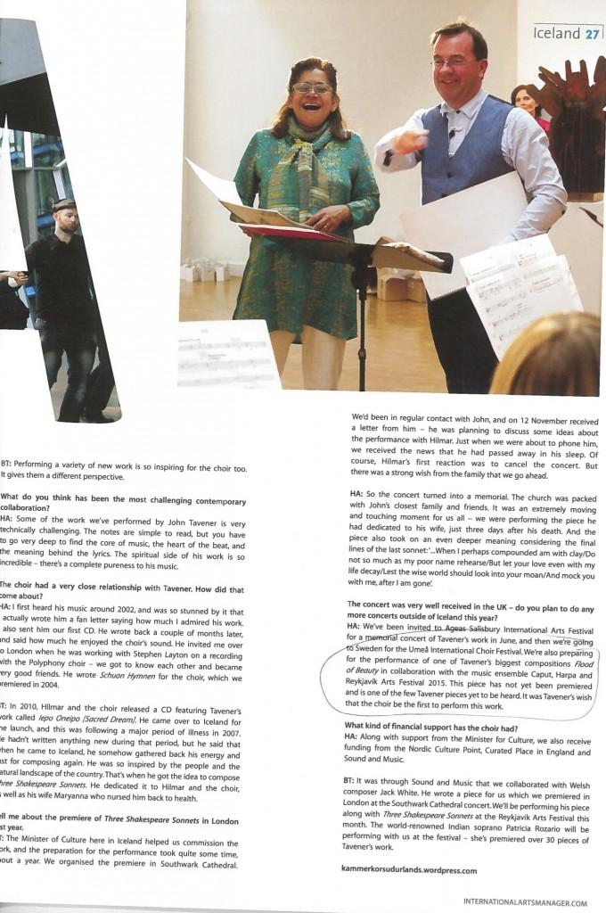 SICC Vol 10 No10 Jun 2014 - International Arts Manager - page 2