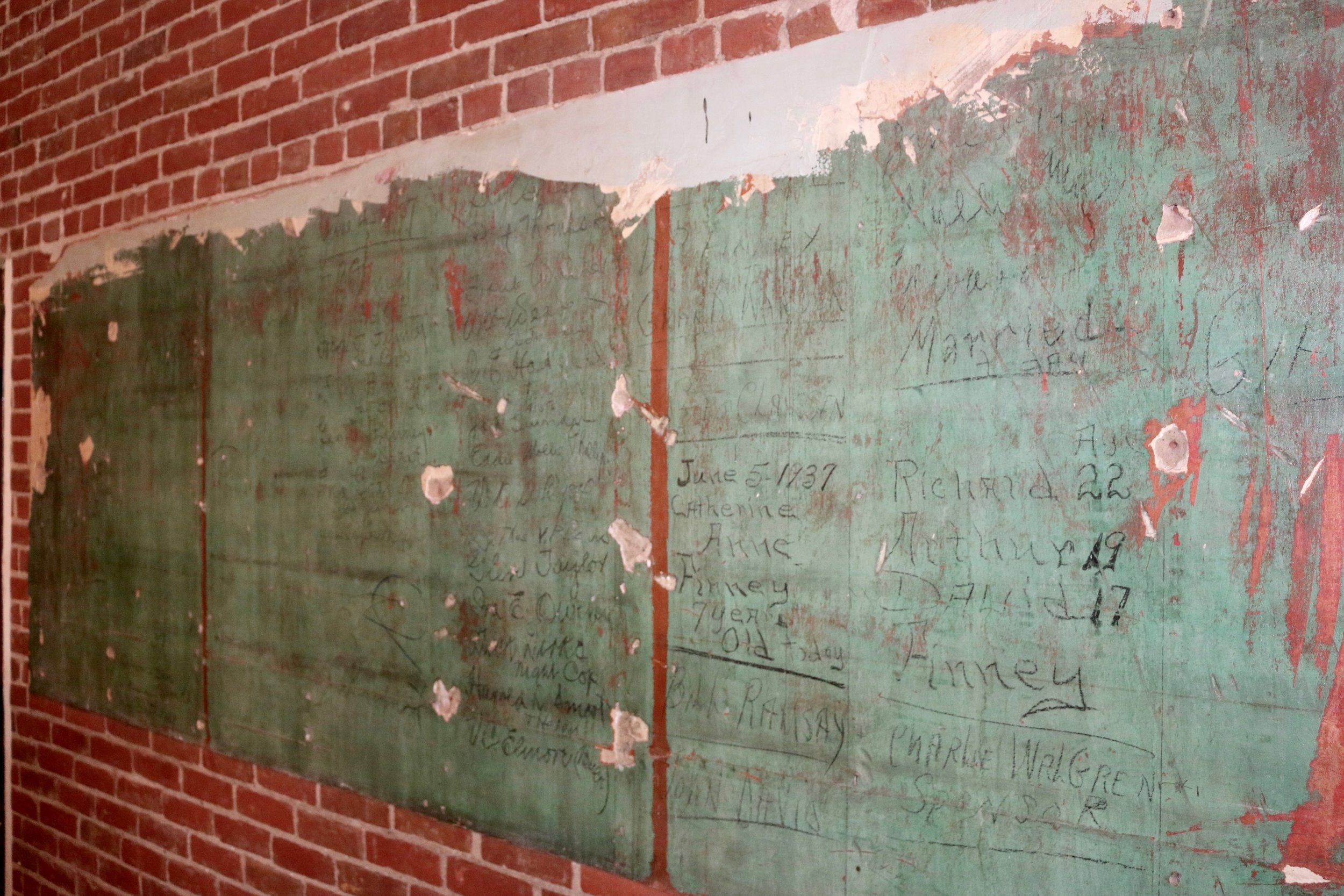 Historic names uncovered during renovation