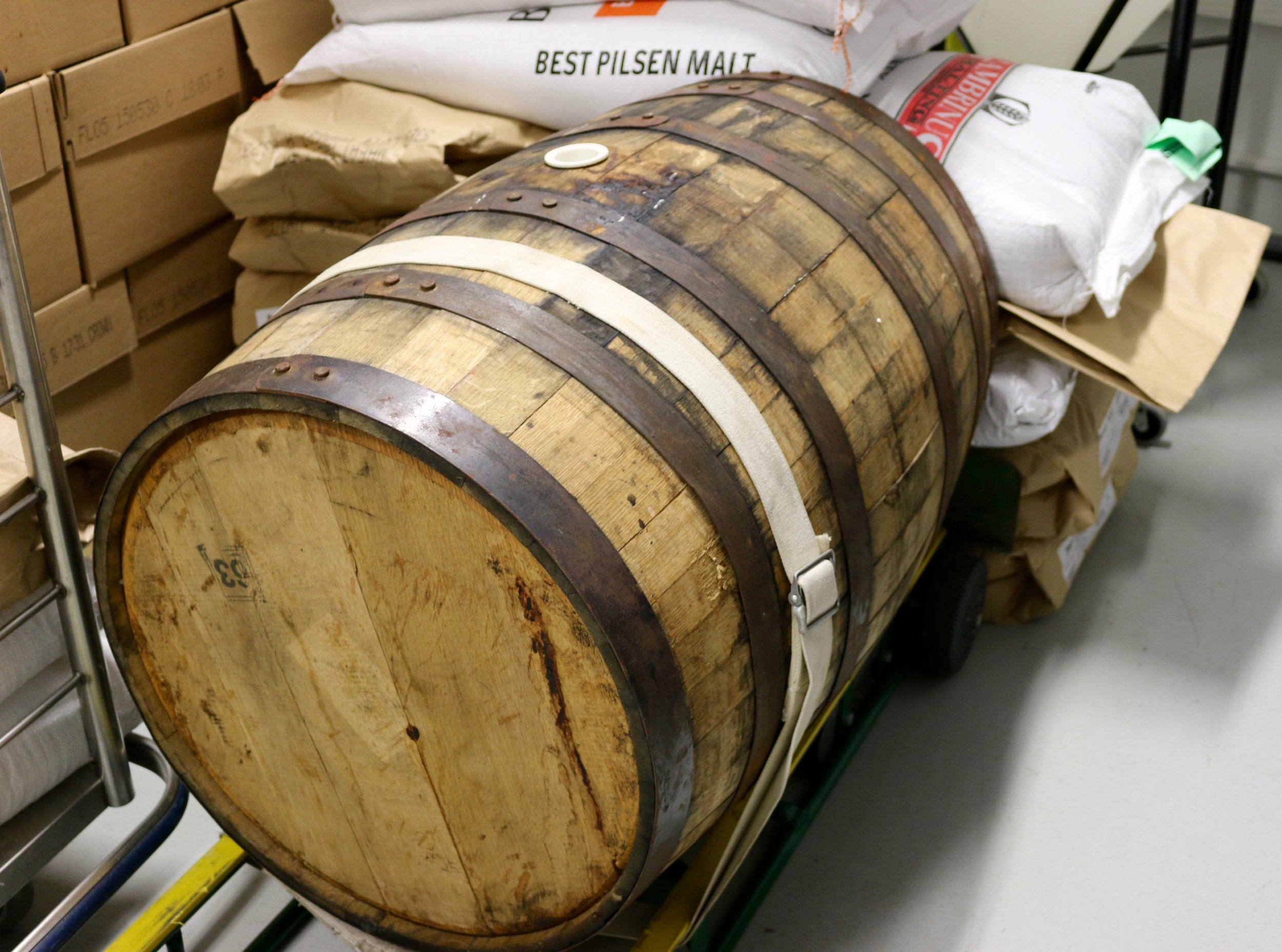 A barrel for a special brew