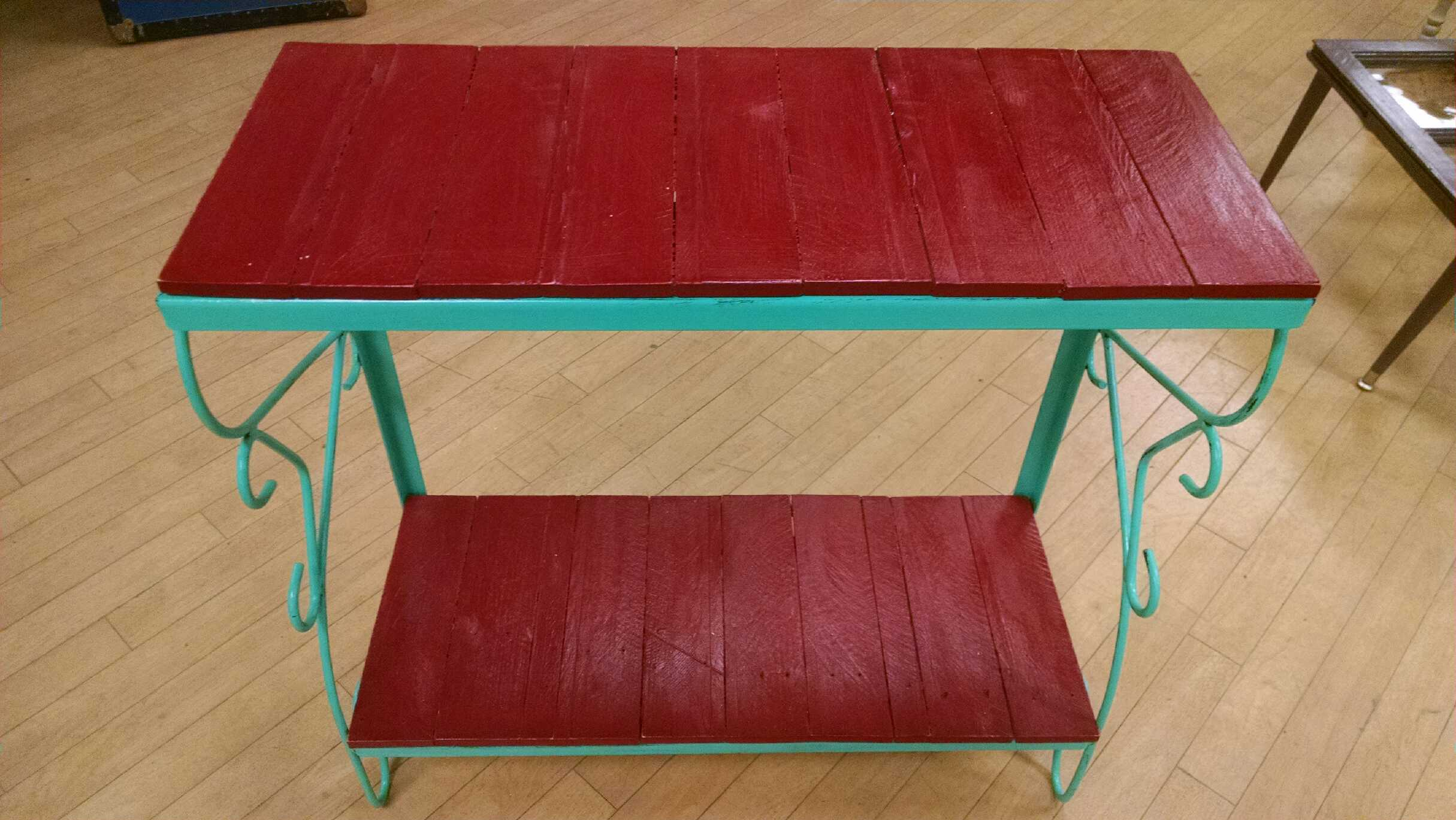 Teal & red sofa table.jpg