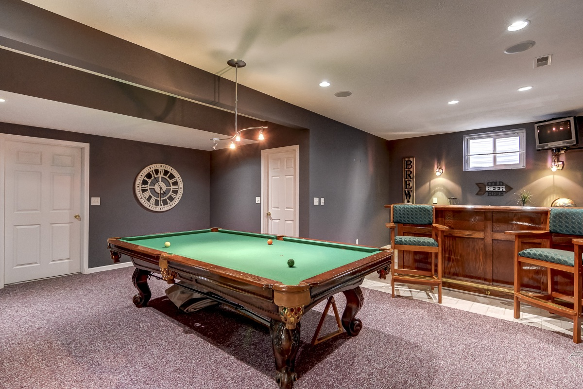 fantastic finished basement