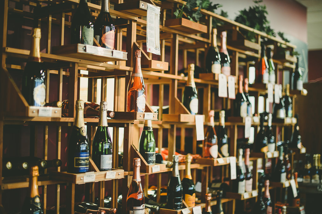 Fantastic selection of Champagnes and sparkling wines from around the world.