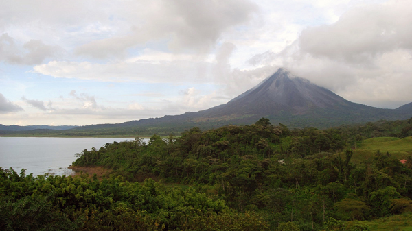 A renal Volcano and Lagoon, San Carlos. © 2009,  Tansy Jefferies .