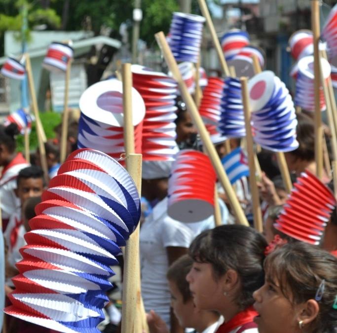 Desfile de faroles temprano, 2015.