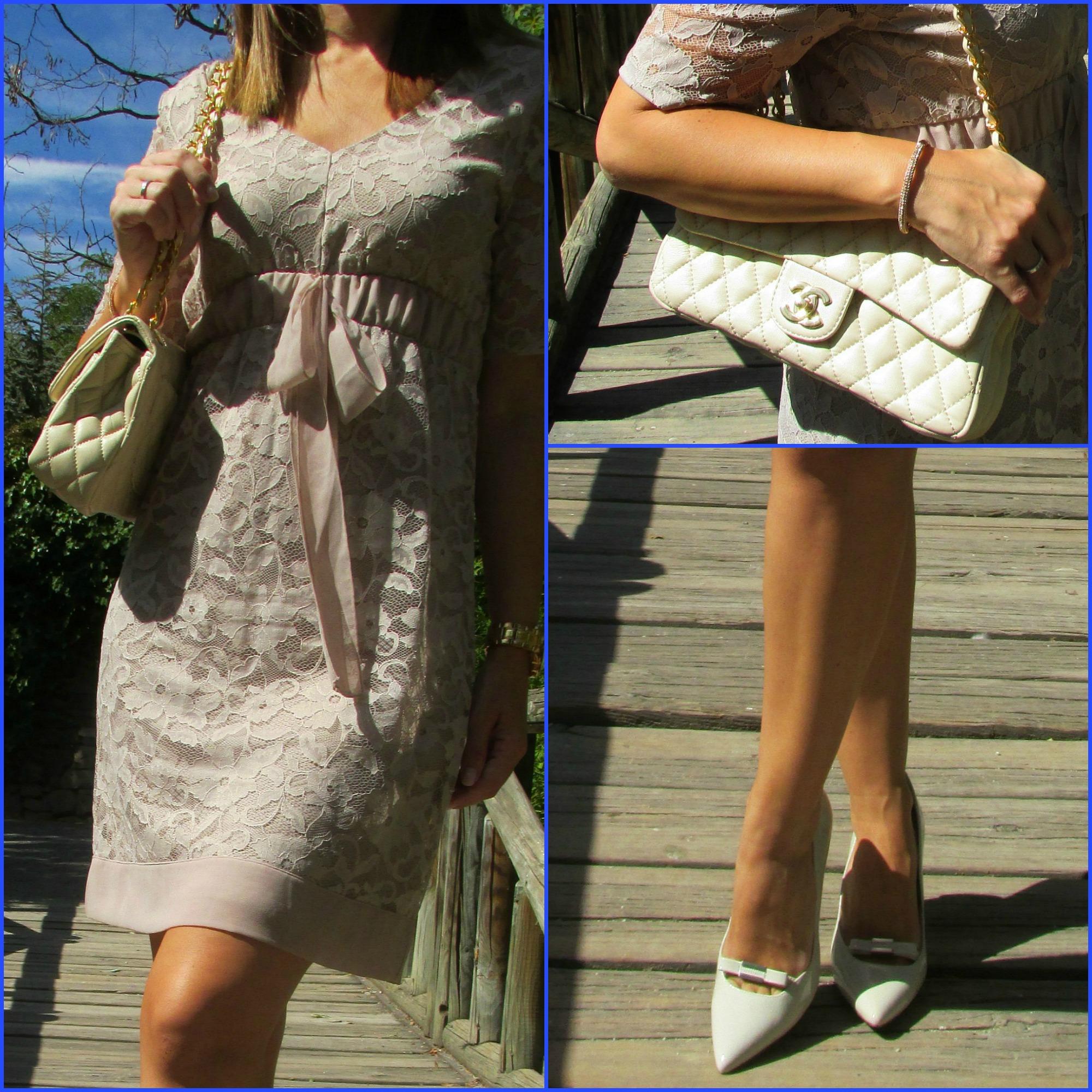 Dress: INTIMISSIMI; Shoes: NINE WEST; Bracelet: SWAROSVSKY; Sunnies: VOGUE; Handbag: CHANEL;